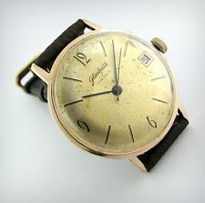Vintage... GLASHUTTE....17 Rubis...69.1....Gold Plated...Big Size.....Check It!!