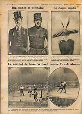 Count Leopold Berchtold Austro-Hungarian/Boxe Willard & Frank Moran WWI 1916