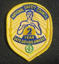 """NATIONAL SAFETY COUNCIL SEW ON ONLY PATCH SAFE DRIVER AWARD 2 YEARS TRUCK 3"""" x 4"""