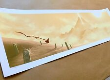 JOURNEY Limited Edition Screen Print JC RICHARD Poster SONY PlayStation PS3 Game