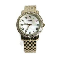 Authentic Fossil Women's Stainless Steel Analog Mother-Of-Pearl Watch ES3113