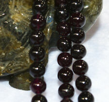 AAA+6mm Sri Lanka Red Garnet (jade) Gemstone Round Loose Bead 15''