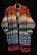Heavy Hand Knitted Long Multicolour CARDIGAN - Fabulous 'dream coat'
