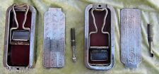 2 ~ VINTAGE ~ ROLLS RAZORS WITH CASES ~ HISTORICAL / MUSEUM WORTHY