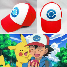 Anime Cosplay Pokemon Pocket Monster Ash Ketchum Baseball Trainer Mesh Hat Cap