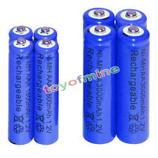 4 AA 3000mAh + 4 AAA 1800mAh battery Bulk Nickel Hydride Rechargeable 1.2V Blue