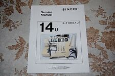 Professional Service Manual, in PDF Form on CD, for Singer 14U Sewing Machines.