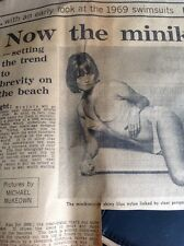 M3-2 Ephemera 1968 Picture Article The Minikini Tweka Model Pat Booth