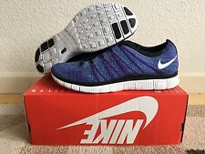New Nike Free Flyknit NSW HTM 599459-500 Size 9.5 (Purple) MSRP $150 *RARE*