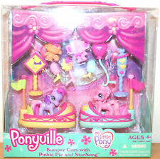 Bumper Cars with Pinkie Pie & Star Song my little pony 2008 Ponyville NEW