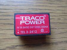 Traco Power tel3-2412 DC/DC-convertidor 18-36vdc a 12vdc 3 vatios * nuevo *