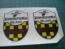Lambretta Innocenti Milano (Pair) Scooter stickers 65mm