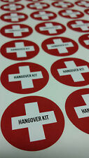 35 Wedding Favour/Party Stickers Labels Hangover Kit Adult Novelty