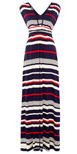 DICKINS & JONES Striped Maxi Dress with V Neckline size XS - Brand New