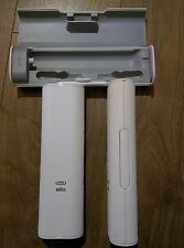 BRAUN ORAL B TRIUMPH / TRIZONE 5000 STORAGE TRAVEL CASE, LIMITED EDITION WHITE!!