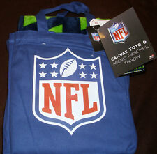 SEATTLE SEAHAWKS CANVAS TOTE BAG & MICRO RASCHEL THROW NFL NWT