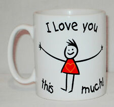 I Love You This Much Mug Can Be Personalised Relative Birthday Valentine's Gift