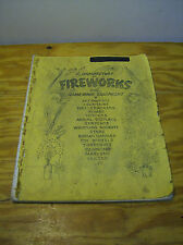 Rare 1963 Manufacture of Fireworks with Home-Made Equipment Manual