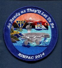CVN-76 USS RONALD REAGAN RIMPAC 2014 US NAVY Ship Squadron Cruise Jacket Patch