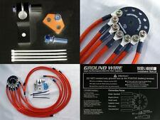 UNIVERSAL fit MAZDA (RED) GROUND WIRE KIT EARTH GROUNDING SYSTEM