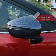New Carbon Fiber Look Rearview Side Mirror Cover For Mazda CX-5 2015 2016