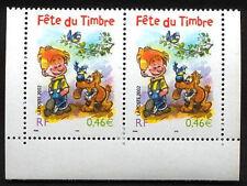Y&T n° 3467a journée du timbre 2002 la paire NEUF **