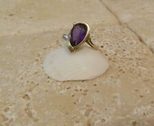 Solid Yellow Gold 3.80 Carat PURPLE Sapphire Solitare Ring A Great Gift Idea!