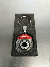 OEM Genuine Porsche Red Brake Disc Key Ring WAP0503020E