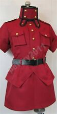 Custom-made Hellsing Seras Victoria Red Uniform Cosplay Costume