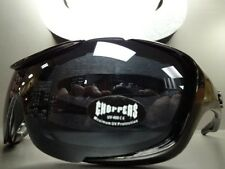 MOTORCYCLE BIKER SPORT Day RIDING PADDED CHOPPERS SUN GLASSES GOGGLES Dark Lens