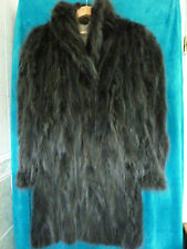 "*Ladies stunning Blue North American Raccoon fur coat 42"" size 14 length 36"" vgc"