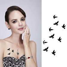 2Pcs New Unisex Birds Body Nail Art Removable Temporary Tattoo Sticker Decor PVC