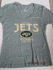 Women's New York Jets V-neck short sleeve T-shirt size Small gray New w/tags
