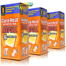 3x Cura Heat Arthritis Pain Refill Wrist Knee Relief 6 Packs (18 Heat Packs)