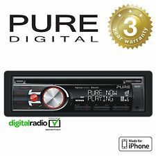 Pure Dab radio Auto Headunit estéreo reproductor de CD con Control De Iphone Y Bluetooth