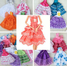 Handmade Party Doll Dress Clothes Gown For Barbies for Kids Color Random Chic CL