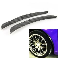 2x Universal Carbon Fiber Body Kits Fender Flares Wheel LIP Car Truck Part