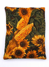 SunflowerCorn Fabric Quilted Hot/Cold Pack w/Corn-Micro/Freezer-Pizazz Creations