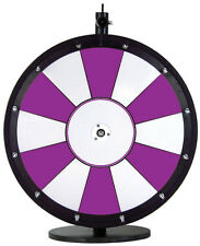 "18"" Purple and White Promotional Dry Erase Spinning Prize Wheel"