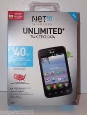 LG Optimus Dynamic II Prepaid Phone For Net 10 Unlimited Talk,Text, Data Black