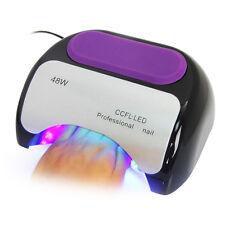 48W Pro CCFL & LED Nail Cure Lamp UV Gel Dryer Light Timer for Gel Polish Black