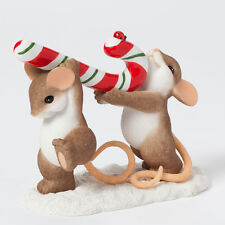 Charming Tails Raise a Little Cane Mouse Figure NEW Christmas 4041185 Mice