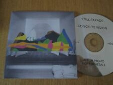 Still Parade ‎– Concrete Vision -  UK 9 Track PROMO CD Album 2016