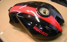 Ducati 2005 Monster S2R Fuel Tank Gas Tank 58610441CS Black with Red Stripe