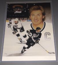 Wayne Gretzky Signed Autographed Joe Thiess 20x25 Art Lithograph 637/2000 Framed