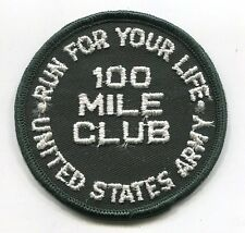 Vietnam Era US ARMY RUN YOUR LIFE MILITARY FITNESS PATCH 100 Mile Club