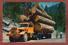 Logging Truck, thrilling sights,diesel hauling logs on mountain roads,Olympia,WA