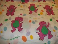 BARNEY TWIN SIZE FLAT SHEET FABRIC MATERIAL Bibb Company multi-color Vintage