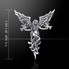 Guardian Angel Dove .925 Sterling Silver Pendant by Peter Stone