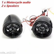 Motorcycle Bluetooth Handfree Audio System FM Radio Stereo Amplifier Speaker New